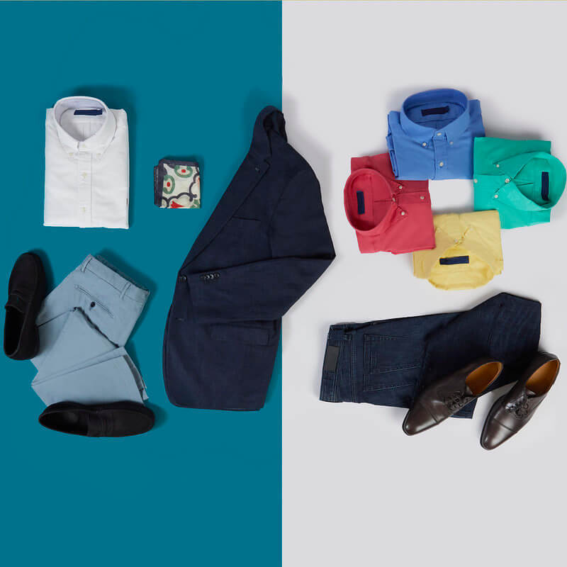 Colours to match with a Navy Blazer
