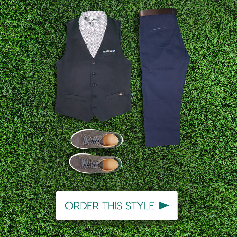 Dubai World Cup Mens Outfit Blue Style