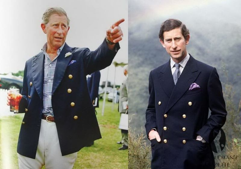 British Royal Navy crew wore navy blazers