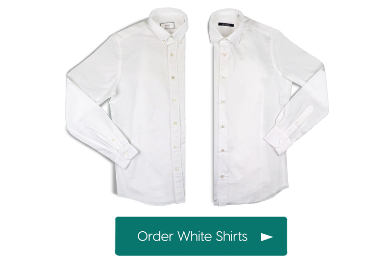 Quality Mens White Shirts by UAE mens personal styling service, Mr. Draper