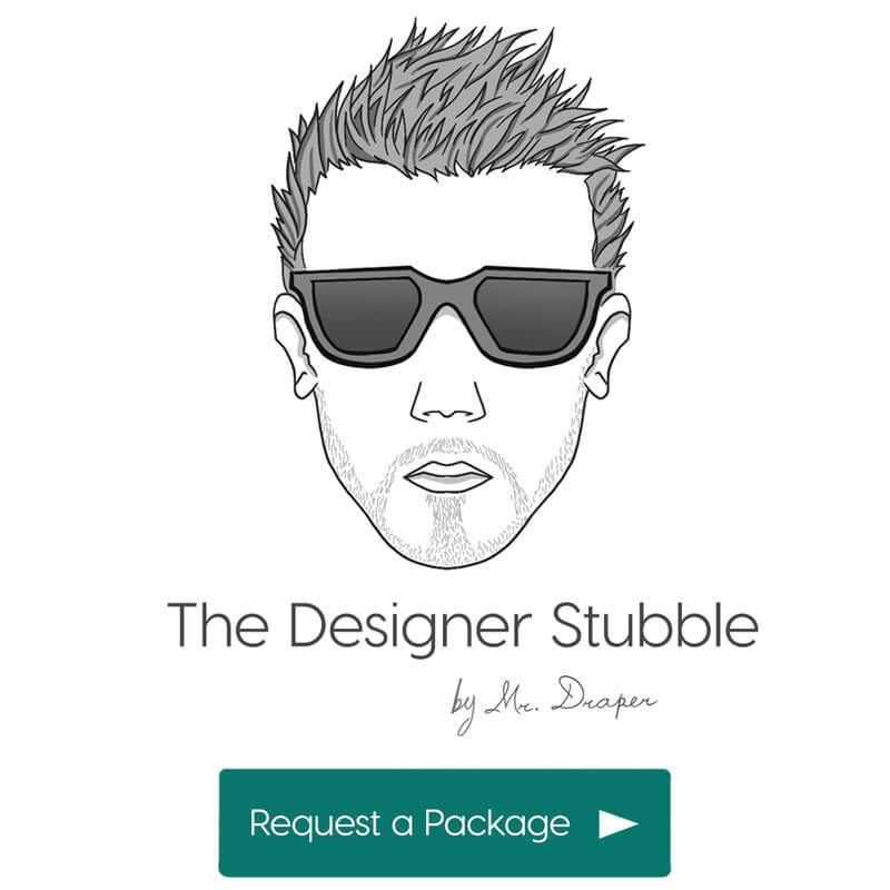 The Designer Stubble style by Mr. Draper, the mens personal styling service for men in the UAE